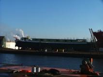 De Caprice op scheepswerf De Schroef te Sluiskil op 15 januari 2006