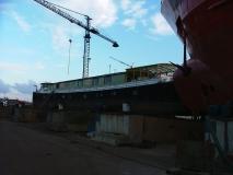 De Caprice op scheepswerf De Schroef te Sluiskil op 27 december 2005