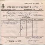 BESTELBRIEF - SS Drechterland - 1915