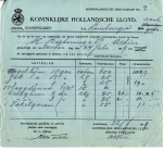 BESTELBRIEF - SS Limburgia- 1919