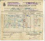 BESTELBRIEF - SS Limburgia - 1920