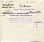 FACTUUR - WAF Wieghorst & Sohn - KHL - 1922