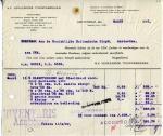 FACTUUR - NV Vereenigde Touwfabrieken - KHL - 1922 - SS Orania