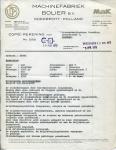 FACTUUR - NV Machinefabriek CP Bolier - 1973
