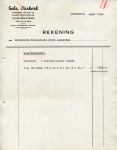 FACTUUR - Gebroeders Verkerk - SS Maasland - 1959