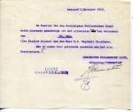 BETALINGSBEWIJS - Koninklijke Hollandsche Lloyd Afdeming Inspectie - 1915