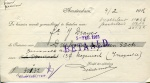 BETALINGSBEWIJS - Koninklijke Hollandsche Lloyd Afdeling - 1916