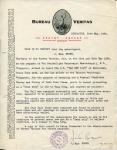KEURINGSRAPPORT - Bureau Veritas  SS Van der Lijn
