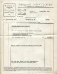 Factuur van Scheepswerf Minnewater met betrekking tot het gedeeltelijk vernieuwen van het stuurhut van het vaartuig Marie Louise (Later Benoni)