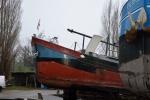 Aquarel: kop van het schip
