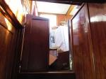 Toegangsdeuren naar  het stuurhut. Foto genomen vanuit de roef