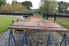 Het roer onder restauratie op 16 september 2017