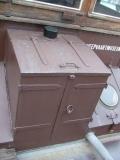Touwkast op het achterdek van de Alyv op 18 september 2004