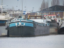Motorspits Patricia in het Lobroekdok te Antwerpen op 3 maart 2013