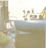 De Ontario varend als wachtschip voor de Scouts