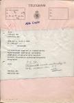TELEGRAM - KHL - 1959 - Schade motorsloep Maasland