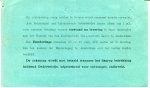 LEVERINGSBON - SS Salland - 1913 - Achterkant