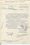 BRIEF - Ministerie van Arbeid - KHL - 1922 - SS Oriania