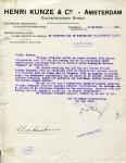 BRIEF - Henri Kunze & C° - KHL - 1921 - SS Orania en SS Flandria