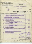 FACTUUR - Henri Kunze & C° - KHL - 1921 - SS Orania en SS Flandria