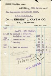FACTUUR - Dr. To Ernest J. Kaye & Co. - KHL - 1922