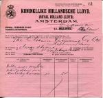 BESTELBRIEF - Koninklijke Hollandsche Lloyd Afdeling Technische Dienst - SS Orania (deel 1) - 1922