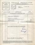 Factuur van Scheepswerf Minnewater met betrekking tot een depannage van het vaartuig Marie Louise (Later Benoni)
